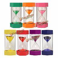 Новый 15 минут пластиковая рама песочные песочные часы песочные часы таймер декор