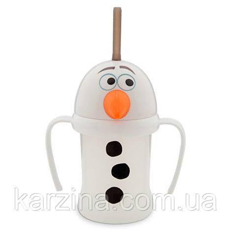 """Детский поильник с трубочкой и ручками """"Олаф"""" - Frozen Disney"""
