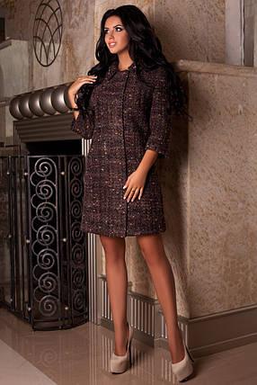Качественное коричневое женское осеннее пальто арт. 965 Тон 7, фото 2