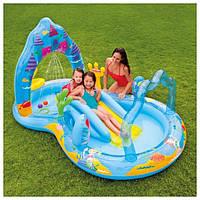 Игровой центр-бассейн с горкой Intex 57139