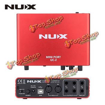 NUX УНЦ-2 мини-порт интерфейса USB аудио для воспроизведения записи микрофон миди музыкальный инструмент