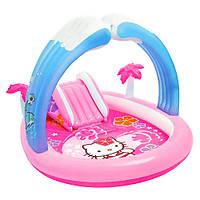 Игровой центр-бассейн с горкой Intex 57137 Hello Kitty