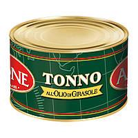 Тунец Airone Tonno all'Olio di Girasole в оливковом масле, 1250 г