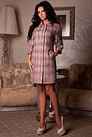 Стильное женское демисезонное пальто арт. 965 Тон 7 Ромб