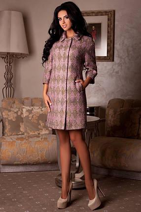 Стильное женское демисезонное пальто арт. 965 Тон 7 Ромб, фото 2