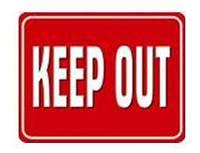 "Табличка ""Keep Out"", фото 1"