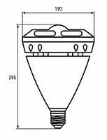 """Лампа LED высокомощная 60W E40 6500K """"глазок"""" (EUROLAMP)"""