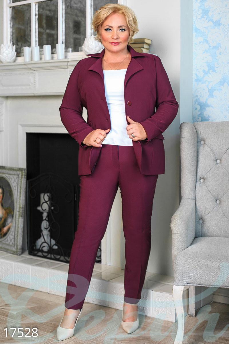 08b10909 Строгий женский брючный костюм большого размера. - Гарна пані - е-магазин  жіночого одягу