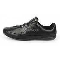 Кроссовки мужские кожаные Adidas Porsche Design черные, Черный, 44