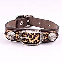 Мужской браслет из кожи Леопард