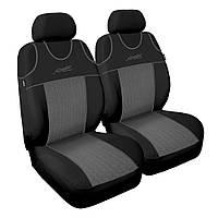Чехол Sport Line черный с серыми вставками (на передние сидения)
