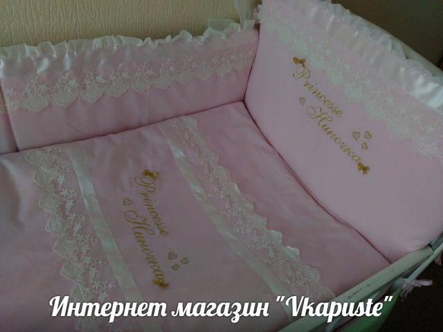 Именные постельные комплекты в кроватку 16
