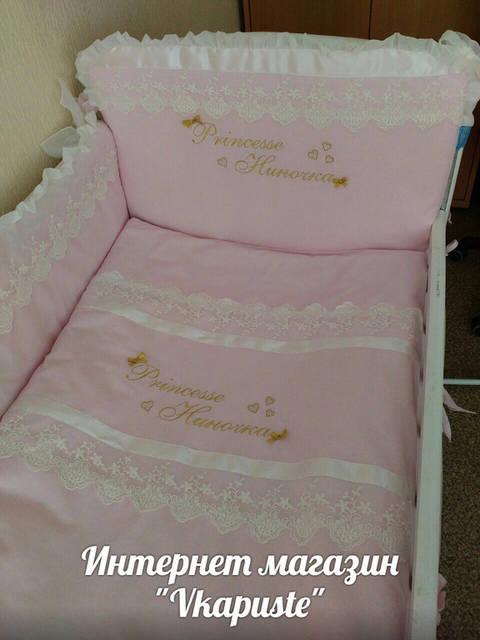 Именные постельные комплекты в кроватку 17