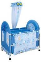 Кровать металлопластик  голубая