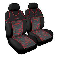 Чохол Sport Line чорний з червоними вставками (на передні сидіння)
