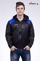 Куртка ветровка мужская Avecs AV-2207 черный с синим, фото 1