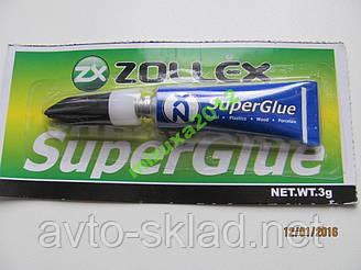 Клей Zollex (суперклей) 3г Супер клей Zollex Super