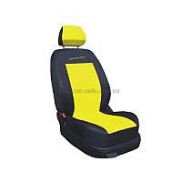 Чохол Sport Line чорний з жовтими вставками (на передні сидіння)