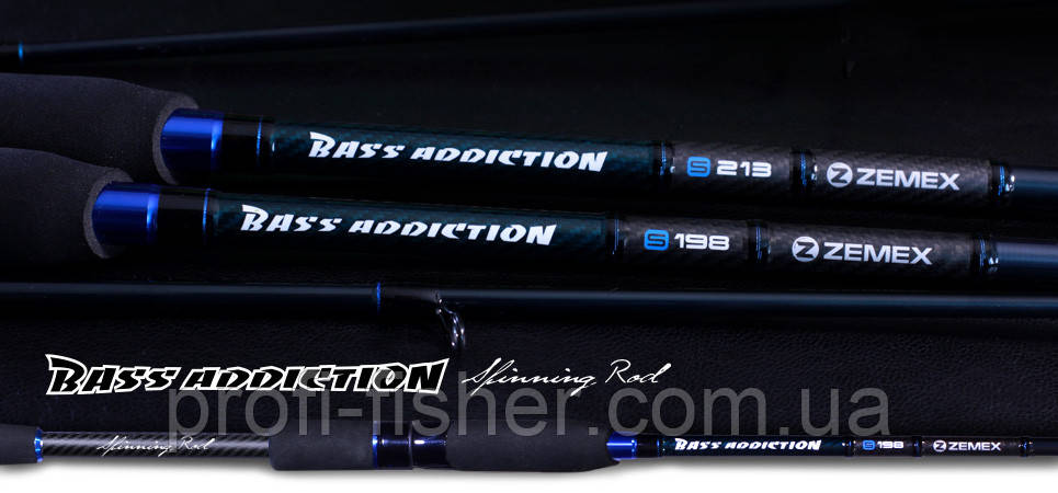 Спиннинги ZEMEX Bass Addiction Spinning Rods 1,98м 4-14гр - Южная Корея