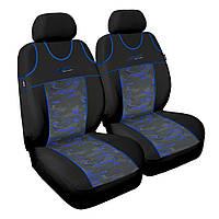 Чохол Sport Line чорний з синіми вставками (на передні сидіння)