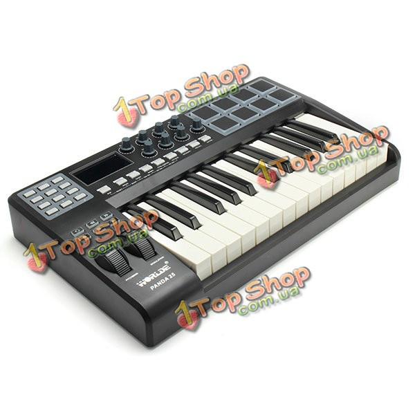 Worlde panda25 профессиональный 25 ключ USB контроллер клавиатуры миди колодки - ➊TopShop ➠ Товары из Китая с бесплатной доставкой в Украину! в Киеве
