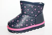 Детская зимняя обувь. Детские угги для девочек от фирмы Clibee2 Z475 темно - синий (6пар, 28-33)