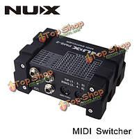 NUX PMS-2 гитары миди переключатель переключатель 6 устройств с 128 пресетов