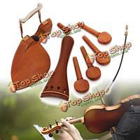 4/4 полный размер деревянные аксессуары скрипки хвостовую/Chinrest/колышками/endpin набор