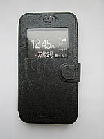 [ Чехол-книжка Jrsilicone Gigabyte GSmart Mika M3 ] Чехол с окошком на смартфон Гиг