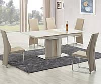 Обеденный стол Halmar Cameron с прямоугольной лакированной столешницей