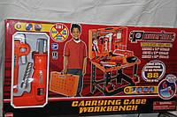 Детский набор  Стол-чемодан с инструментами (дрель на батар.), фото 1