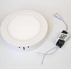 Светильник  светодиодный 2в1 12W (4000 К) накладной круглый Wall Light Plastic с каемкой, фото 2