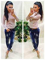 Женский свитер машинная вязка цвет капучино, фото 1