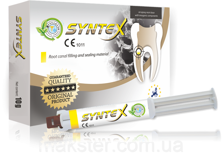 Матеріал для заповнення кореневих каналів SYNTEX