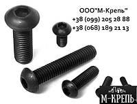 Винты М5 DIN 7380, ISO 7380, ГОСТ 28963-91 с полукруглой головкой, класс прочности 10.9