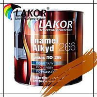 Эмаль алкидная ПФ-266-К Lakor желто-коричневая для пола 0.9 кг, 2.8 кг, 20 л, 50 л (55 кг)