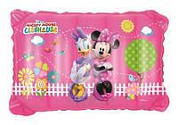 Подушка детская клуб Микки Мауса розовая, надувная, 38-24-9см