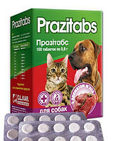 Антигельминтный препарат от глистов Празитабс для котов и собак, 10 табл в блистере