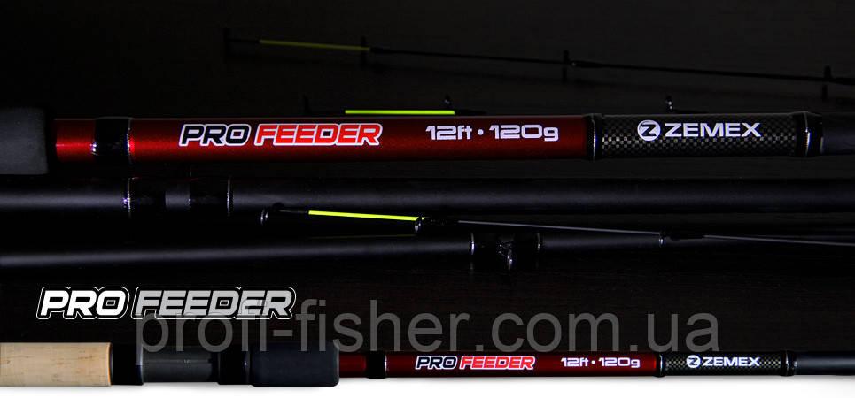Фидерное удилище ZEMEX Pro Feeder 3,6м до 120гр - Южная Корея