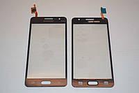 Тачскрин / сенсор (сенсорное стекло) для Samsung Galaxy Grand Prime Duos G530 | G530H | G530F серый самоклейка