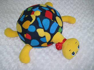 Декоративная подушка - игрушка черепаха Соня ручная работа