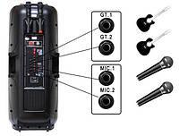Колонка с аккумулятором комбоусилитель Temeisheng A 65, 2 микрофона, Bluetooth