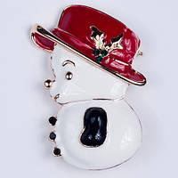 Брошь Снеговик