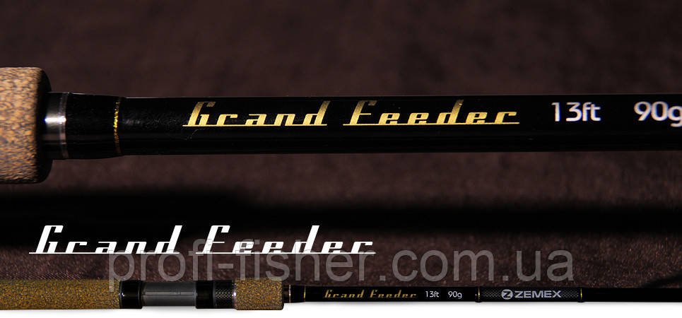 Фидерное удилище Б/у ZEMEX Grand Feeder 3,9м до 120гр - Южная Корея