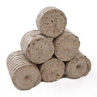 Круглый брикет Нестро из древесины