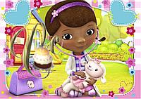 Печать вафельной (рисовой) или сахарной картинки Доктор Плюшева на торт