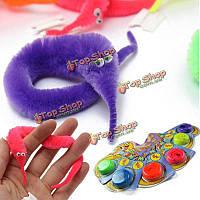 6шт магия извилистой нечеткое червь покачивания движется морской конь дети трюк игрушка шесть цветов