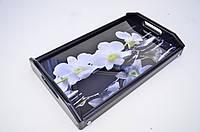 """Столик для завтрака """"Франция"""" поднос белые орхидеи"""