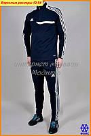 Утепленный спортивный костюм Adidas  с цветной вставкой на груди
