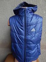Детская Жилетка adidas   от 1 года-6 лет синяя